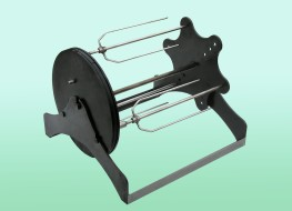 Rotary grill with different types of needles, gril Gugriz, Strojtex