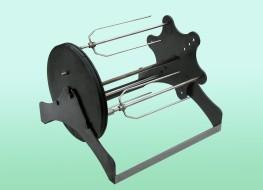 Rotační zařízení s různými druhy unášecích jehel, gril Gugriz, Strojtex